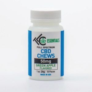 the leaf collaborative 50mg full spectrum green apple CBD chews